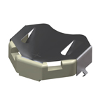 Thru Hole Mount Insulated Battery Retainers