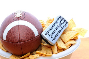 Football, remote, chips