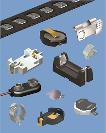 Battery Clips, Contacts & Holders